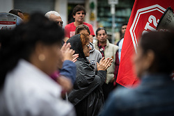 September 11, 2017 - Rome, Italy - A protest of the movements for the house to the Lazio region the activists of the movements for the house complain in front of the seat of the Lazio region to request a response to the housing emergency of Rome. (Credit Image: © Andrea Ronchini/Pacific Press via ZUMA Wire)