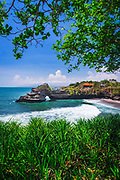 Sea arch at Tanah Lot Temple, Bali, Indonesia