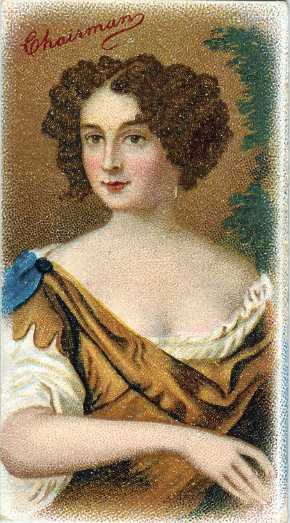 Nell Gwyn (c1650-1687), English comic actress: mistress of Charles II. After portrait by Peter Lely. Chromolithograph.