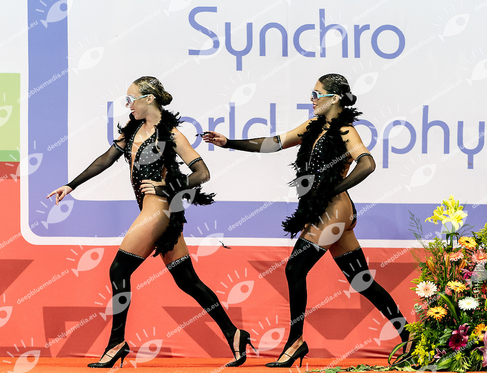 Claire Barton , Sarah Rodriguez  U.S.A. <br /> 8th FINA Synchronised Swimming World Trophy <br /> Day01 Nov. 29 -  Thematic duet<br /> Mexico City 29 November - 1 December<br /> Photo G.Scala/Deepbluemedia.eu
