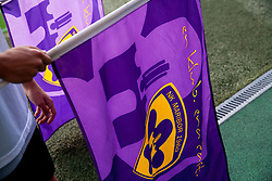 Maribor's flag during football match between NK Maribor and APOEL FC, (Cyprus) in Third qualifying round, Second leg of UEFA Champions League 2014, on August 6, 2013 in Stadium Ljudski vrt, Maribor, Slovenia. (Photo by Vid Ponikvar / Sportida.com)