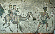 Roman mosaics at the Mosaics Museum, includes many hunting scenes from the Great Palace.
