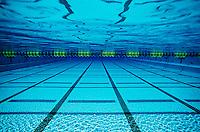 Empty swimming pool, underwater view