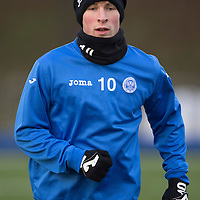 St Johnstone Training....30.12.14<br /> David Wotherspoon pictured in training this morning ahead of the New Years Day game at Aberdeen.<br /> Picture by Graeme Hart.<br /> Copyright Perthshire Picture Agency<br /> Tel: 01738 623350  Mobile: 07990 594431