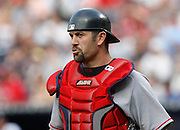 Boston catcher Jason Varitek during the game between the Atlanta Braves and the Boston Red Sox at Turner Field in Atlanta, GA on June 18, 2007..