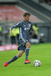 13.01.2019, Merkur Spiel Arena, Duesseldorf, GER, Telekom Cup, Fortuna Duesseldorf vs FC Bayern Muenchen, im Bild Thomas Mueller (Muenchen) mit Ball // during the Telekom Cup Match between Fortuna Duesseldorf and FC Bayern Muenchen at the Merkur Spiel Arena in Duesseldorf, Germany on 2019/01/13. EXPA Pictures © 2019, PhotoCredit: EXPA/ Eibner-Pressefoto/ Mario Hommes<br /> <br /> *****ATTENTION - OUT of GER*****