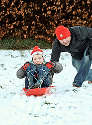 Pictured: Families enjoying the freedom in the snow on Bpoxing Day<br /> <br /> <br /> <br /> Alex Todd   EEm 26 December 2017