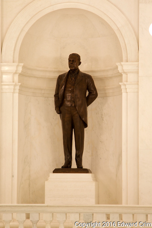 Statue of Andrew Gregg Curtin, 1817-1894, Governor of Pennsylvania during the American Civil War and a strong supporter of Abraham Lincoln.