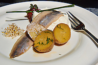 Herring and Potatoes in Riga, Latvia. Image taken with a Nikon 1 V2 camera and 10-100 mm VR lens (ISO 160, 30.3 mm, f/57, 1/600 sec). Semester at Sea Spring 2013 Enrichment Voyage.