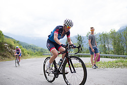 Claudia Koster (NED) of Veloconcept Cycling Team climbs the main climb of Stage 2 of the Giro Rosa - a 122.2 km road race, between Zoppola and Montereale Valcellina on July 1, 2017, in Pordenone, Italy. (Photo by Balint Hamvas/Velofocus.com)