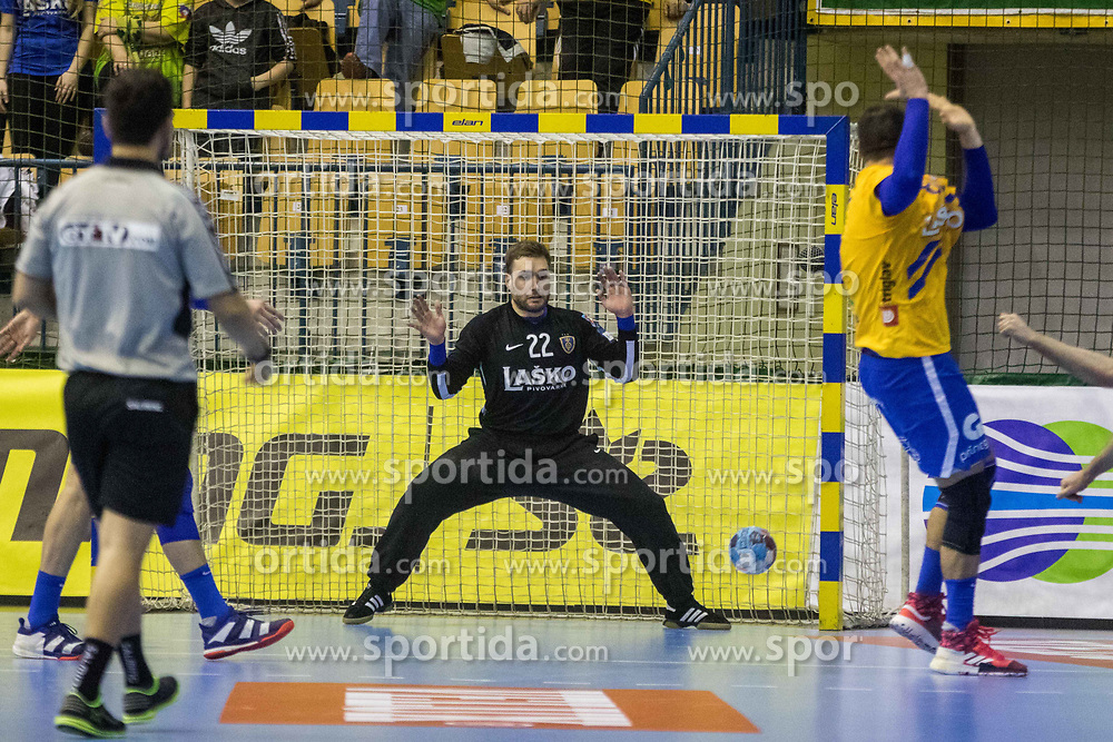 Ferlin Klemen of RK Celje Pivovarna Lasko during VELUX EHF Champions League handball match between RK Celje Pivovarna Lasko vs MOL Pick Szegad on the February 10. 2019, Celje, Slovenia. Photo by Matic Ritonja / Sportida