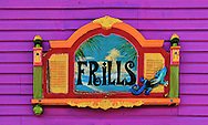 Colorful store sign on Matlacha island<br /> along Florida's Gulf coast.
