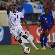 Brayan Beckeles, Honduras, in action during the Haiti V Honduras CONCACAF Gold Cup group B football match at Red Bull Arena, Harrison, New Jersey. USA. 8th July 2013. Photo Tim Clayton