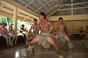 Polynesian dancers, Puamau, Hiva Oa, Marquesas Islands, French Polynesia, (Editorial use only)<br />