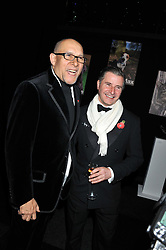 Left to right, BRUCE OLDFIELD and TREVOR PICKETT at the annual Collars & Coats Gala Ball in aid of Battersea Dogs & Cats Home held at Battersea Evolution, Battersea Park, London on 11th November 2011.