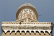 Minaret and Dome of one of the Talhah mosque in the Old City of Sanaa.
