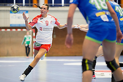 Fie Woller of Denmark during handball match between Women national teams of Slovenia and Denmark in Round #5 of Qualifications for Women's EHF EURO 2018 Championship in France, on May 30, 2018 in Sports hall Golovec, Celje, Slovenia. Photo by Urban Urbanc / Sportida