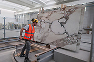 In the marble sawmill in Garfagnanha, inside the marble basin, working marble on site is a conquest for the territory