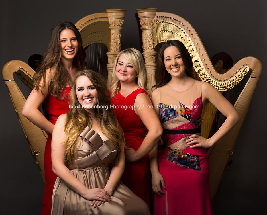 6/19/13 2:37:05 PM -- <br /> <br /> The Chicago Harp Quartet<br /> <br /> Marguerite Lynn Williams, Katherine Ventura, Catherine Litaker, and Emily Ann Granger<br /> <br />  &not;&copy; Todd Rosenberg Photography 2013