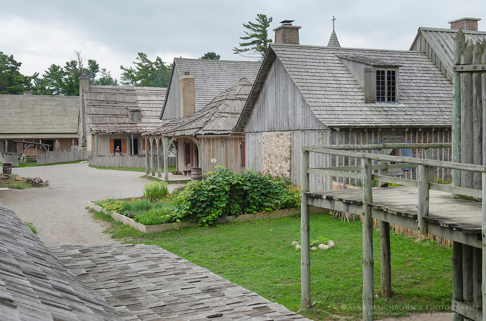 Colonial Michilimackinac, Mackinaw City Michigan.