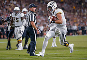 WEST LAFAYETTE, IN - SEPTEMBER 15: Drew Lock #3 of the Missouri Tigers runs for a touchdown during the game against the Purdue Boilermakers at Ross-Ade Stadium on September 15, 2018 in West Lafayette, Indiana. (Photo by Michael Hickey/Getty Images) *** Local Caption *** Drew Lock NCAA Football - Purdue Boilermakers vs Missouri Tigers at Ross-Ade Stadium in West Lafayette, Indiana. Sports photographer by Michael Hickey