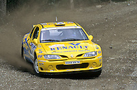 Mobil 1/RAC British Rally Championship 1997. RSAC Scottish Rally. Robbie Head / Bryan Thomas. Renault Dealer Rallying. Renault Maxi Megane. World Copyright: Peter Taylor/PSP. Copy of publication required for printed pictures. Every used picture is fee-liable..
