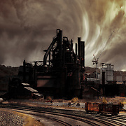 Clouds rush past the Bethlehem Steel. I always wonder what Bethlehem was like when the steel was operational