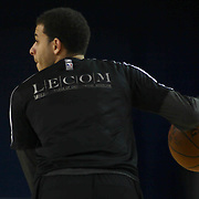 Erie BayHawks Guard Seth Curry (12) warming up in the first half of a NBA D-league regular season basketball game between the Delaware 87ers and the Erie BayHawk (Orlando magic) Friday, Jan. 02, 2015 at The Bob Carpenter Sports Convocation Center in Newark, DEL