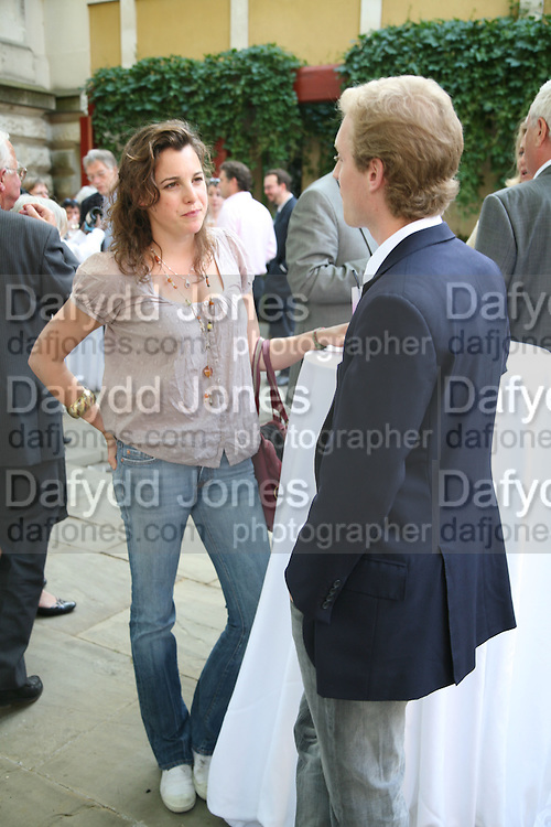 Alice ~Llewellen and James Sevier, Hockney on Turner Watercolours, Tate Britain  Clore Galleries. London. 12 June 2007.  -DO NOT ARCHIVE-© Copyright Photograph by Dafydd Jones. 248 Clapham Rd. London SW9 0PZ. Tel 0207 820 0771. www.dafjones.com.
