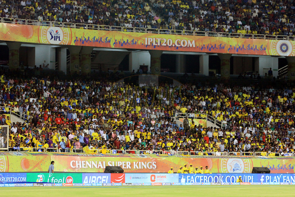 A general view during match 21 of the Pepsi Indian Premier League Season 2014 between the Chennai Superkings and the Kolkata Knight Riders  held at the JSCA International Cricket Stadium, Ranch, India on the 2nd May  2014<br /> <br /> Photo by Arjun Panwar / IPL / SPORTZPICS<br /> <br /> <br /> <br /> Image use subject to terms and conditions which can be found here:  http://sportzpics.photoshelter.com/gallery/Pepsi-IPL-Image-terms-and-conditions/G00004VW1IVJ.gB0/C0000TScjhBM6ikg