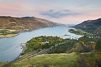 View looking up the Columbia River from Rowena Crest, Columbia River Gorge National Scenic Area Oregon