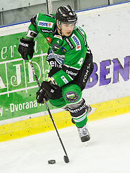 25.01.2015, Hala Tivoli, Ljubljana, SLO, EBEL, HDD Telemach Olimpija Ljubljana vs EHC Liwest Linz, 43. Runde, in picture Igor Cvetek (HDD Telemach Olimpija, #4) during the Erste Bank Icehockey League 43. Round between HDD Telemach Olimpija Ljubljana and EHC Liwest Linz at the Hala Tivoli, Ljubljana, Slovenia on 2015/01/25. Photo by Vid Ponikvar / Sportida