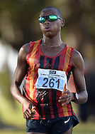 CAPE TOWN, SOUTH AFRICA - OCTOBER 08: Lebogang Shange of CGA in the mens 20km as the sun rises during the ASA 50km and Interprovincial Race Walking Championships at Youngsfield Military base on October 08, 2016 in Cape Town, South Africa. (Photo by Roger Sedres/Gallo Images)