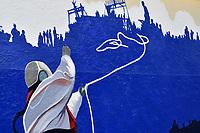Skiskyting<br /> IBU World Championship<br /> VM 2016 Oslo<br /> Foto: Gepa/Digitalsport<br /> NORWAY ONLY<br /> <br /> OSLO,NORWAY,04.MAR.16 - BIATHLON - IBU World Championships, preview. Image shows a painting of Torunn Skjelland and Vigdis Fjellheim.