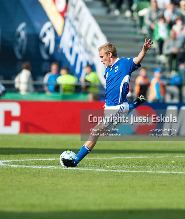 Jussi Vasara. Saksa - Suomi. Alle 21-vuotiaiden EM-turnaus. Halmstad, Ruotsi 18.6.2009. Photo: Jussi Eskola