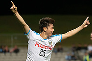 SYDNEY, AUSTRALIA - MAY 21: Kawasaki Frontale player Ao Tanaka (25) celebrates his goal at AFC Champions League Soccer between Sydney FC and Kawasaki Frontale on May 21, 2019 at Netstrata Jubilee Stadium, NSW. (Photo by Speed Media/Icon Sportswire)