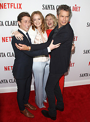 Los Angeles Premiere of Netflix's Santa Clarita Diet Season Two at Arclight in Hollywood, California on 3/22/18. 22 Mar 2018 Pictured: Drew Barrymore, Liv Hewson, Skyler Gisondo, Timothy Olyphant. Photo credit: River / MEGA TheMegaAgency.com +1 888 505 6342