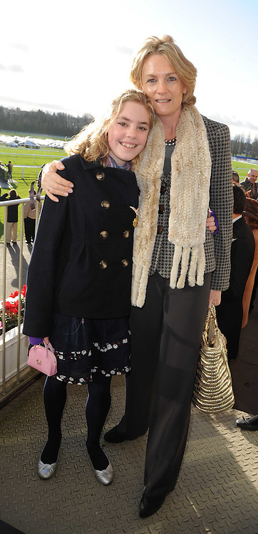 LADY LLOYD-WEBBER and her daughter BELLA at the Hennessy Gold Cup 2009 held at Newbury Racecourse, Berkshire on 28th November 2009.