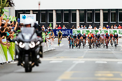 The cyclists at the finish line during 1st Stage of 25th Tour de Slovenie 2018 cycling race between Lendava and Murska Sobota (159 km), on June 13, 2018 in  Slovenia. Photo by Matic Klansek Velej / Sportida