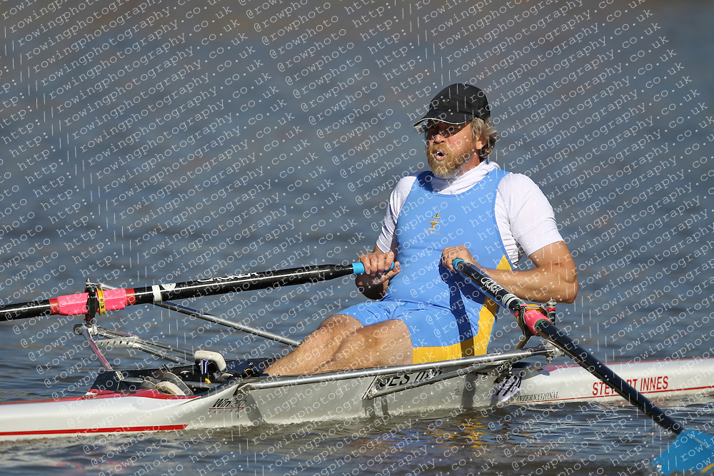 29.09.2012. Wallingford Long Distance Sculls 2012, The River Thames. Division 1. MasE 1x. Martyrs Boat Club, Wiggins.