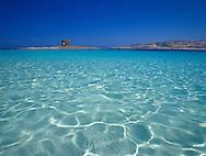 The sea around La Torre della Pelosa,<br /> Stintino, Sardinia, Italy