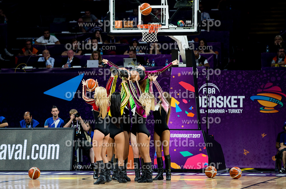 Cheerleaders Red Foxes perform during basketball match between National Teams of Germany and Spain at Day 13 in Round of 16 of the FIBA EuroBasket 2017 at Sinan Erdem Dome in Istanbul, Turkey on September 12, 2017. Photo by Vid Ponikvar / Sportida