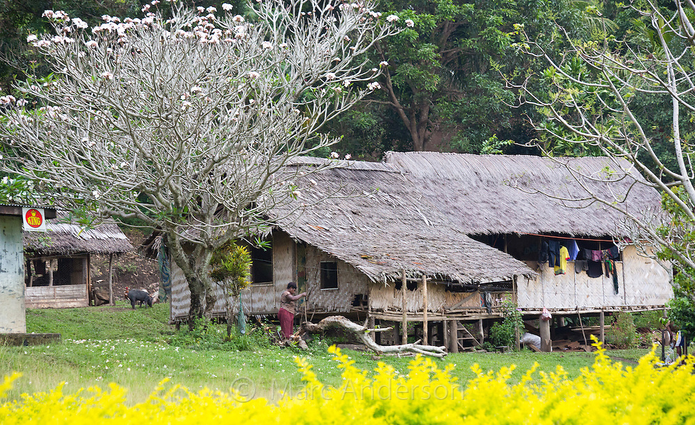 Traditional village house in Nadzab, Lae province, Papua New Guinea