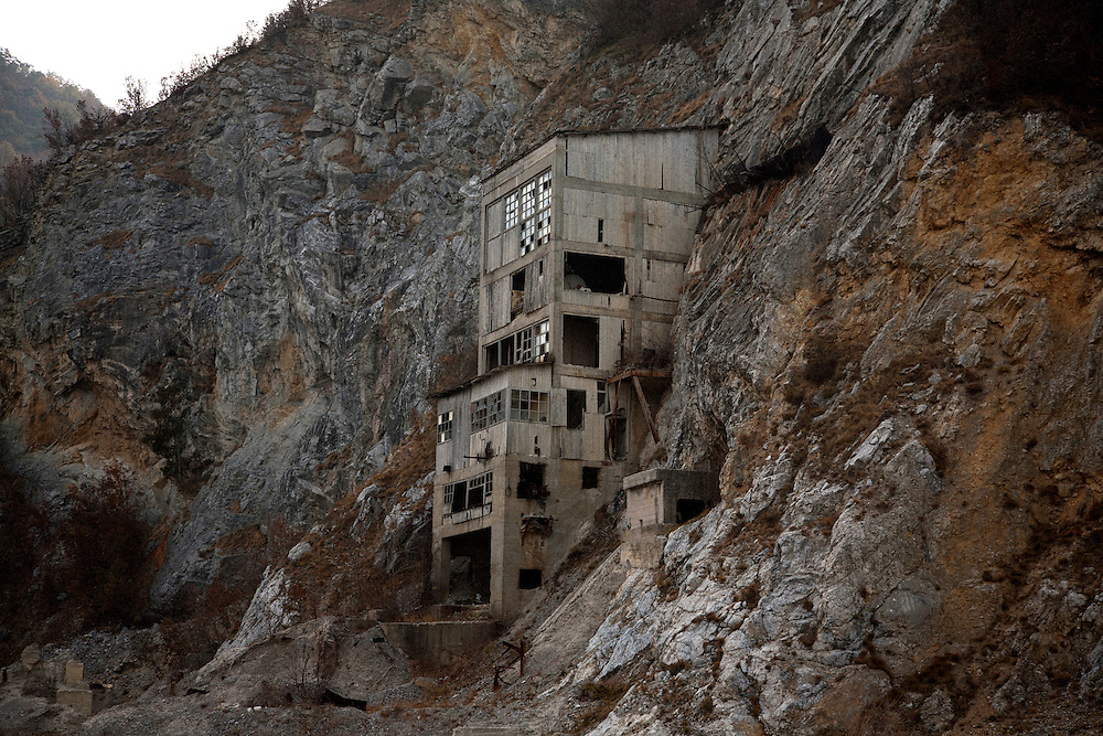 An abandoned mining complex near the Danube River in Golubac, Serbia..Matt Lutton for the Financial Times