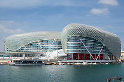 The Yas Viceroy Hotel at Yas Marina on Yas Island in Abu Dhabi United Arab Emirates