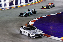 September 17, 2017 - Singapore, Singapore - Motorsports: FIA Formula One World Championship 2017, Grand Prix of Singapore, ..Bernd Maylaender (GER, Safety Car driver), #44 Lewis Hamilton (GBR, Mercedes AMG Petronas F1 Team), #3 Daniel Ricciardo (AUS, Red Bull Racing) (Credit Image: © Hoch Zwei via ZUMA Wire)