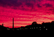Sunset over the National Mall, Washington, DC