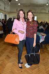 Left to right, TRISH SIMONON and FRAN HICKMAN at a lunch in aid of the charity African Solutions to African Problems (ASAP) held at the Royal Horticultural Hall, Vincent Square, London on 19th May 2016.