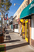 Downtown Marine Ave of Balboa Island in Newport Beach California