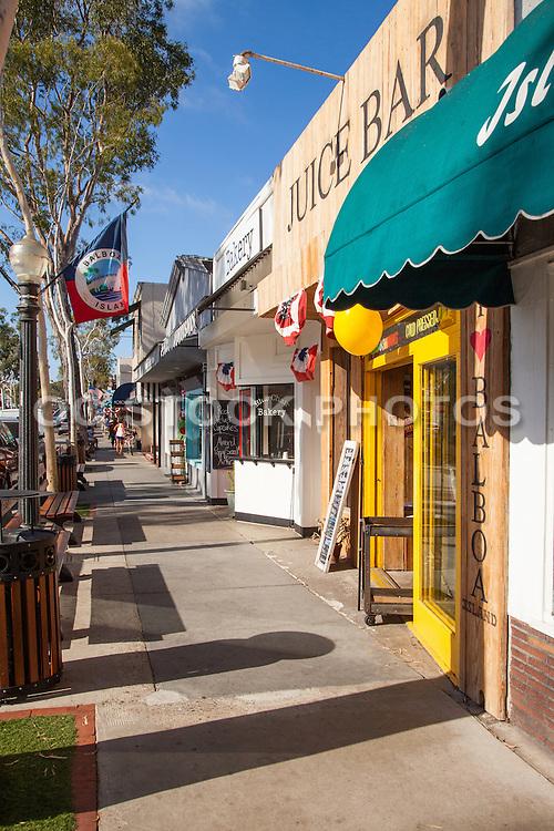 Downtown Marine Ave of Balboa Island in Newport Beach California